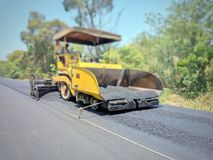 Road construction. Asphalt road construction in Thailand, blurred images stock images