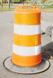 Road Construction Barrel Royalty Free Stock Images