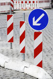 Road Construction Barricade Royalty Free Stock Photo