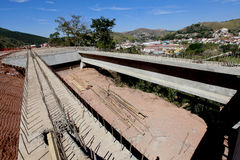 Road construction in brazil Royalty Free Stock Photo
