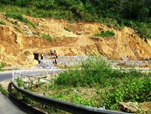 Road Construction in Cameroon (Africa) Stock Image