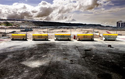 Road construction,Construction of a road and cut step Stock Photography
