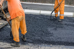 Road construction crew  Royalty Free Stock Images