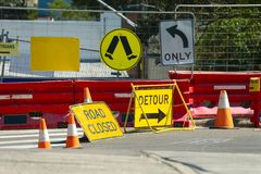 Road Construction detour Royalty Free Stock Photo