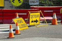 Road Construction detour Royalty Free Stock Image