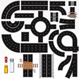 Road Construction Elements Stock Image
