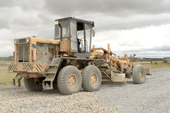 Road construction equipment. Road construction machinery during construction Stock Photo