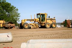 Road construction grader Stock Photography