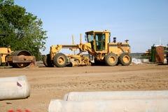 Road construction grader Stock Photography