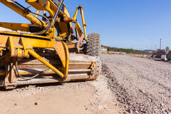Road Construction Grader Royalty Free Stock Photos