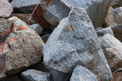 Road construction gravel texture , close up on pile of rocks for Stock Photography