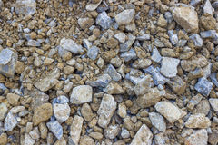 Road construction gravel texture Royalty Free Stock Image