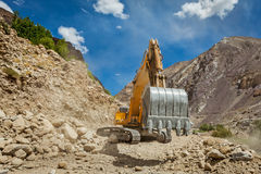 Road construction in Himalayas Royalty Free Stock Photography