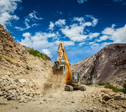 Road construction in Himalayas Royalty Free Stock Image
