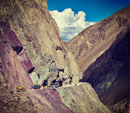 Road construction in Himalayas Stock Photography