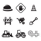 Road Construction Icons Stock Images