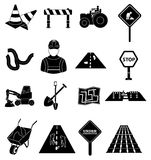 Road Construction icons set Stock Images