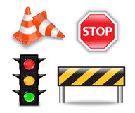 Road & Construction Icons Royalty Free Stock Photos