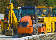Road construction machinery Royalty Free Stock Photography