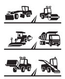 Road construction machinery. Vector illustration Stock Image