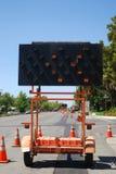 Road Construction Merge stock photo
