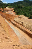 Road construction. Among the mountain royalty free stock photography