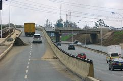 Road construction in Nairobi. A view of the Thika Super Highway, Nairobi Kenya during the construction phase in Royalty Free Stock Photos