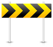 Road construction road sign. Roadblock, bypass, diversion, round Royalty Free Stock Photos