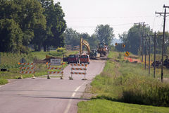 Road Construction on a Rural Road Stock Photography