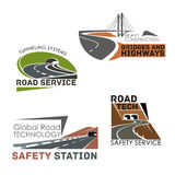 Road construction and service vector icons Royalty Free Stock Image
