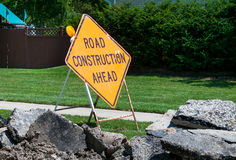 Road Construction sign Royalty Free Stock Image