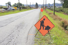 Road Construction Sign Royalty Free Stock Photos