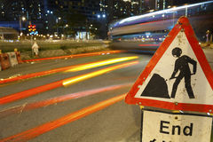 Road construction Royalty Free Stock Photography