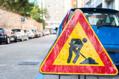 Road construction sign Stock Photography