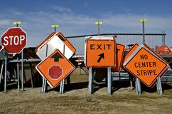 Road construction signs Royalty Free Stock Images