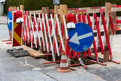 Road construction site Royalty Free Stock Photos