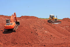 Road construction site Royalty Free Stock Images