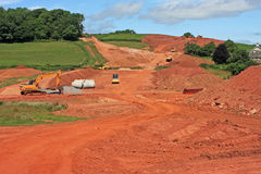 Road construction site Royalty Free Stock Photo