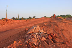 Road construction site Stock Photography