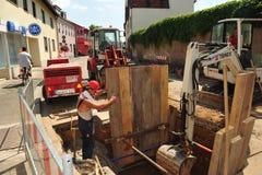 Road construction site stock photos