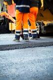 Road construction, teamwork Stock Photos