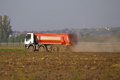 Road construction truck Royalty Free Stock Photography