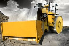 Road construction vehicle stock photography