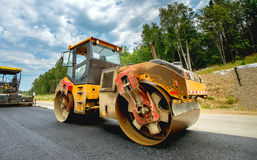 Road construction vehicle Royalty Free Stock Photography