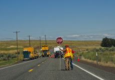 Road Construction, Washington State Stock Photo