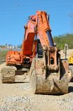 Road construction work. In a new development Royalty Free Stock Photo