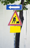 Road construction work sign Stock Image
