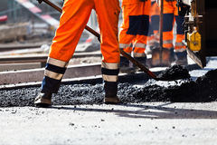 Road construction, worker Stock Photos