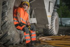 Road Construction Worker royalty free stock photography