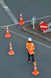 Road construction worker Royalty Free Stock Images